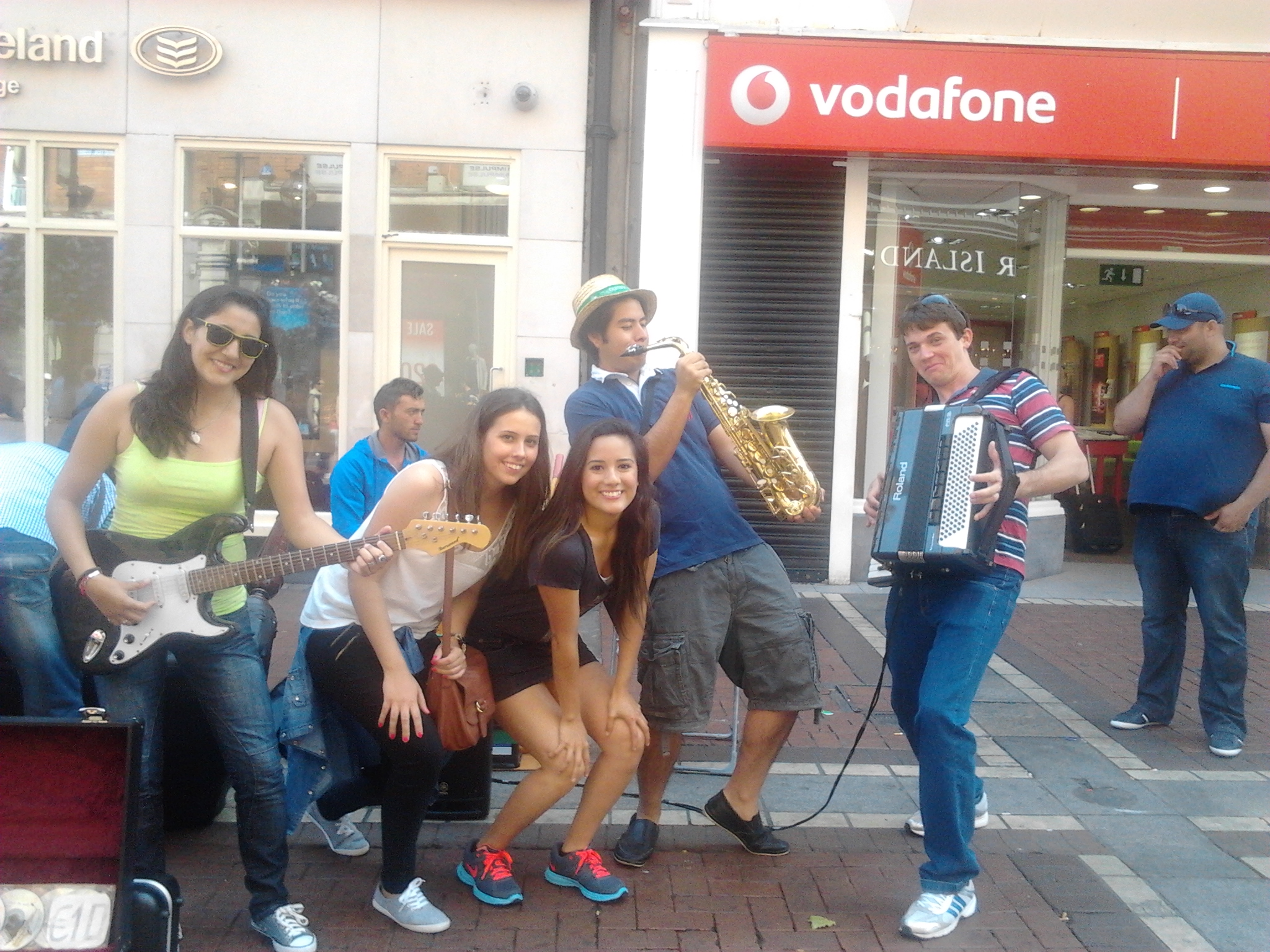 The new band on Grafton Street